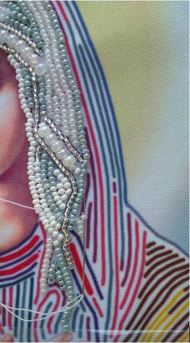 Вышивка бисером вприкреп