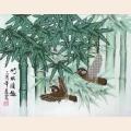 Название: Бамбуковый рай.  Размер: 30х38 см.Тип: схема на канве для вышивания бисером.  Категория: А3.