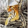 """Схема для вышивания бисером А.ТОКАРЕВА """"Тигр в горах"""""""