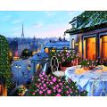 """Схема для вышивания бисером А-СТРОЧКА """"Парижский балкон"""""""