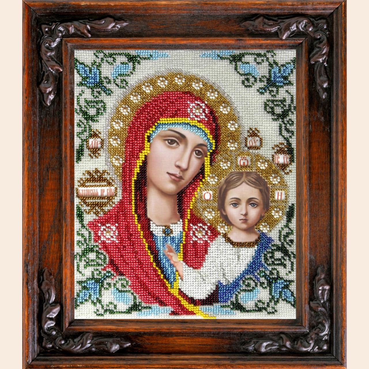 Набор для вышивания бисером ВЫШИВАЕМ БИСЕРОМ арт.L4 Казанская икона 18x22 см всего за 750.75 руб.