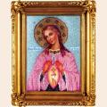"""Набор для вышивания бисером ВЫШИВАЕМ БИСЕРОМ """"Икона Божией Матери """"В родах Помощница"""""""