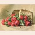 """Схема для вышивания лентами GAMMA """"Розы в корзине"""""""