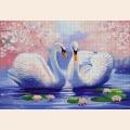 """Набор для вышивания бисером А.ТОКАРЕВА """"Пара лебедей"""""""