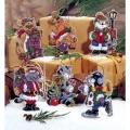 """Набор для вышивания нитками Classic Design """"Новогодние коты"""""""