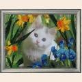 """Набор для вышивания бисером BUTTERFLY """"Котенок в цветах"""""""