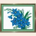 """Набор для вышивания бисером """"Синие цветы"""""""