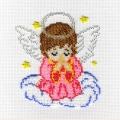 """Набор для вышивания в смешанной технике  МП-СТУДИЯ """"Ангелочек в розовом"""""""