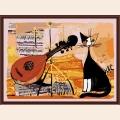 "Раскраска по номерам COLOR-KIT ""Musical cat"""