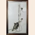 """Набор для вышивания нитками Алисена """"Кошки-мышки"""""""