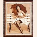 """Набор для вышивания нитками Алисена """"Дождь"""""""