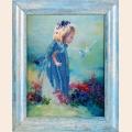 """Набор для вышивания бисером ALISENA   """"Ангелочек с голубем"""""""