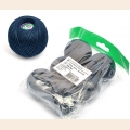 "Набор ниток Ирис для вязания ""Морской синий"" (100% хлопок) 6х25г/150м, С-Пб"