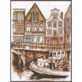 "Набор для вышивания нитками ПАЛИТРА  ""Набережная Амстердама"""