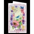 """Набор для вышивания бисером АБРИС АРТ открытка-конверт """"Стрекоза и бабочки"""""""