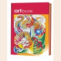 Раскраски-антистресс Записная книга-раскраска ARTbook. Китай (красная)
