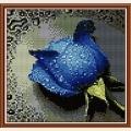 """Набор для рисования камнями DIY """"Голубая роза"""""""