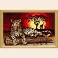 """Набор для вышивания пряжей QUICK TAPESTRY """"Леопард"""""""