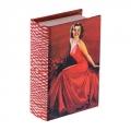 """Шкатулка-книга """"Девушка в красном платье"""""""