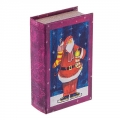 """Шкатулка-книга """"Санта на коньках"""""""