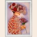 """Набор для вышивания бисером BUTTERFLY """"Дама с лилиями"""""""