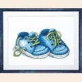 """Набор для вышивания нитками Crystal Art  ЧАРИВНА МИТЬ """"Первые шаги цв.голубой""""  24х18 см"""