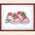 """Набор для вышивания нитками Crystal Art ЧАРИВНА МИТЬ """"Первые шаги цв.розовый"""" 24х18 см"""