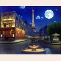 Алмазная вышивка квадратными камнями ГРАННИ «Вечерний Париж»