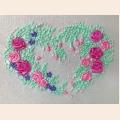 """Набор для вышивания лентами FeDi """"Розовое сердце"""""""