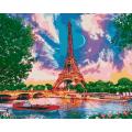 """Живопись (картины) по номерам Hobruk """"Луна в Париже"""""""