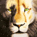 """Раскраска по номерам COLOR-KIT """"Снежный лев"""""""