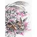 """Набор для вышивания нитками ОВЕН """"Кролики"""""""