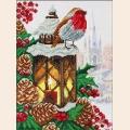"""Набор для вышивания бисером ПАУТИНКА """"Рождественский фонарик"""""""