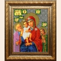 """Набор для вышивания бисером ВЫШИВАЕМ БИСЕРОМ """"Божия матерь Трех радостей"""""""