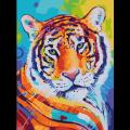 """Раскраска по номерам COLOR-KIT """"Оранжевый тигр"""""""