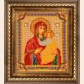 """Рамка для иконы бисером от  """"Кроше """" Смоленская Богородица."""