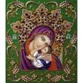 """Набор бисером ИЗЯЩНОЕ РУКОДЕЛИЕ """"Богородица """"УМИЛЕНИЕ В КОРОНЕ"""" (Икона)"""