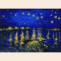 """Рисунок-подушка для вышивания бисером MAGIK CRAFT """"Звездная ночь над Роной"""""""