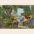 """Рисунок-подушка для вышивания бисером MAGIK CRAFT """"В саду"""""""