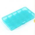 Коробка пластик для шв. принадл. пластик OM-042, бирюзовый\прозрачный