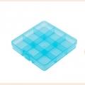 Коробка пластик для шв. принадл. пластик OM-086, голубой\прозрачный