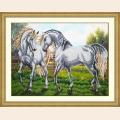 """Набор для вышивания бисером Паутинка """"Пара белых лошадей"""""""
