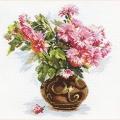 """Набор для вышивания нитками АЛИСА """"Цветущий сад. Хризантемки"""""""