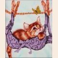 """Набор для вышивания бисером GLURIYA """"На качелях"""""""