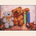 """Набор для вышивания бисером GLURIYA """"Плюшевые медведи 2"""""""
