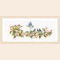 """Набор для вышивания нитками LANARTE """"Синица и цветы"""""""