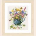 """Набор для вышивания нитками LANARTE """"Цветы в вазе"""""""