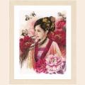 """Набор для вышивания нитками LANARTE """"Восточная девушка в розовом"""""""