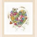 """Набор для вышивания нитками LANARTE """"Сердце из цветов"""""""