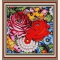 """Рисунок-подушка для вышивания бисером MAGIK CRAFT """"Полевые цветы"""""""